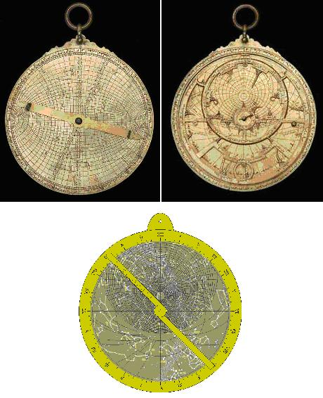 North African universal astrolabe (probably from the 13th century) at the Museum of the History of Science, University of Oxford (Inventory n° 41122).